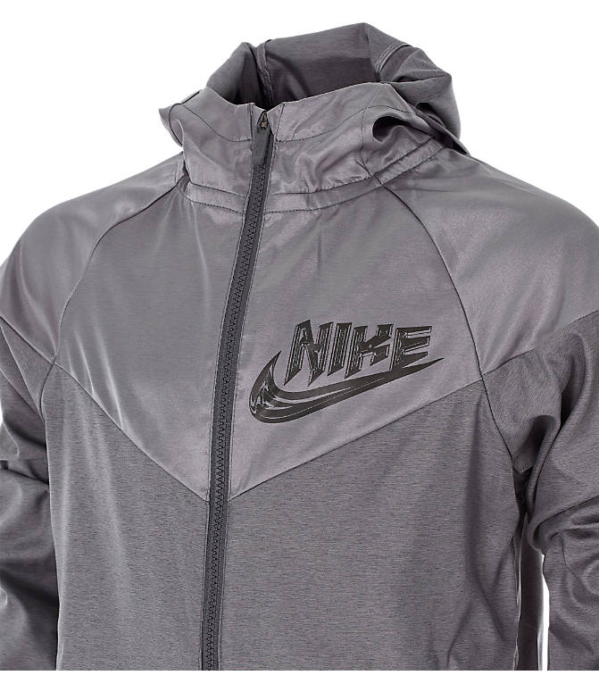 efce21fa Back view of Boys' Nike Sportswear Energy Windrunner Jacket in Gunsmoke