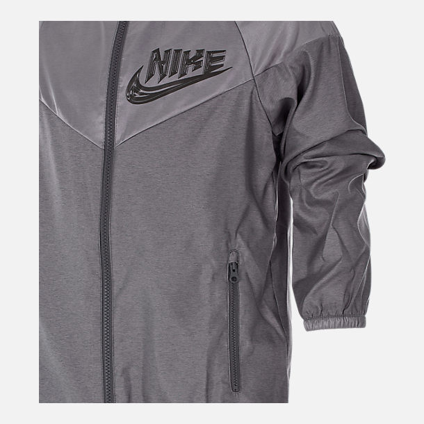 Alternate view of Boys' Nike Sportswear Energy Windrunner Jacket in Gunsmoke