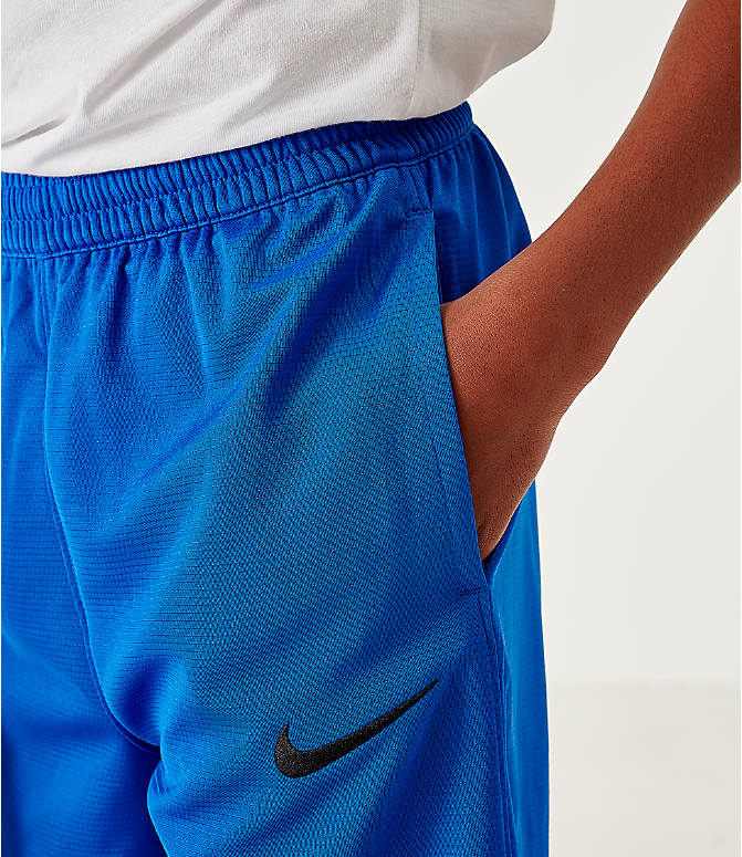 On Model 5 view of Boys' Nike Icon Basketball Shorts in Game Royal/Black