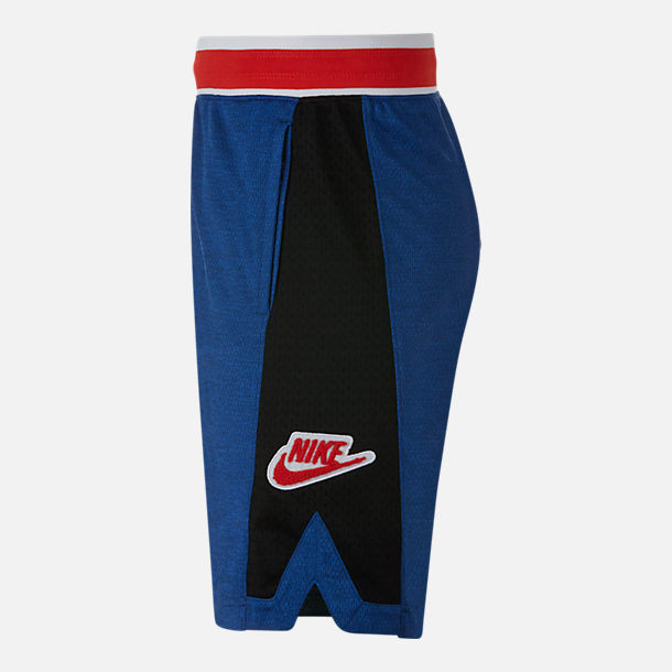 Back view of Boys' Nike Hoopfly Basketball Shorts in Indigo Force/Black