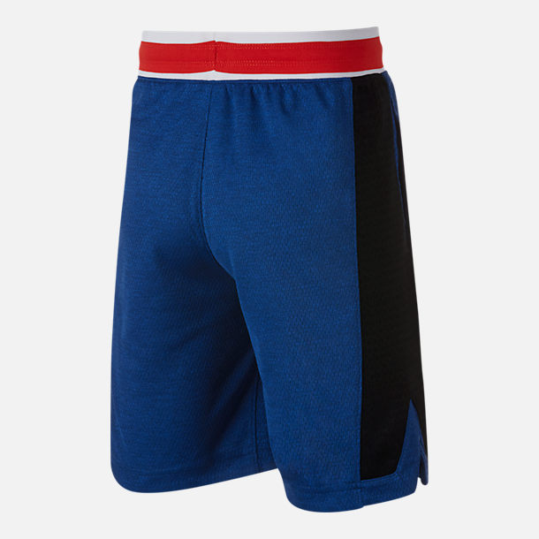 Alternate view of Boys' Nike Hoopfly Basketball Shorts in Indigo Force/Black