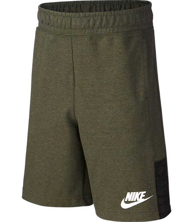 Front view of Boys' Nike Sportswear Jersey Shorts in Cargo/Khaki