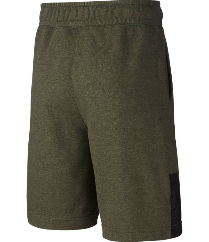 Back view of Boys' Nike Sportswear Jersey Shorts in Cargo/Khaki