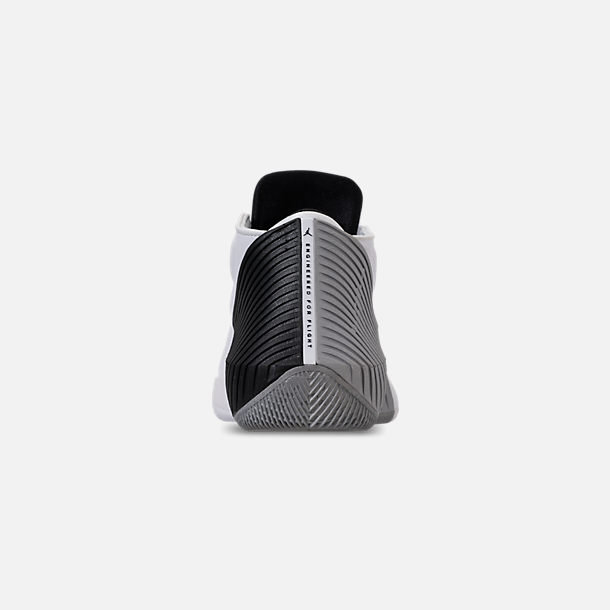 Back view of Men's Air Jordan Why Not Zer0.1 Low TB Basketball Shoes in White/Black/Metallic Silver