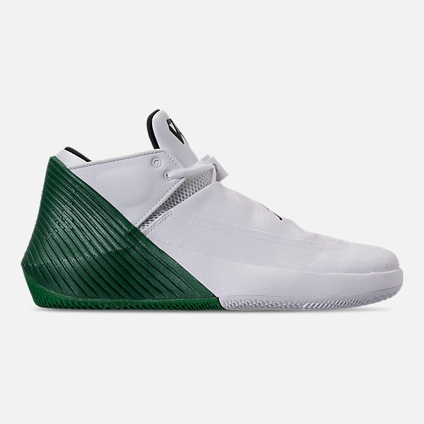 Right view of Men's Air Jordan Why Not Zer0.1 Low TB Basketball Shoes in White/Black/Pine Green