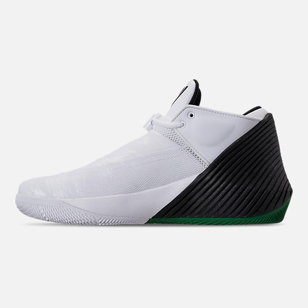 Left view of Men's Air Jordan Why Not Zer0.1 Low TB Basketball Shoes in White/Black/Pine Green