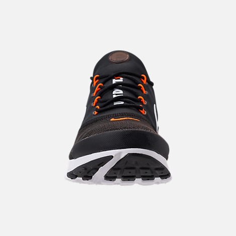 Front view of Men's Nike Presto Fly JDI Casual Shoes in Black/White/Total Orange