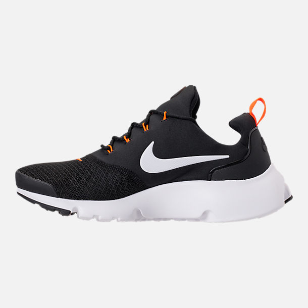 Left view of Men's Nike Presto Fly JDI Casual Shoes in Black/White/Total Orange