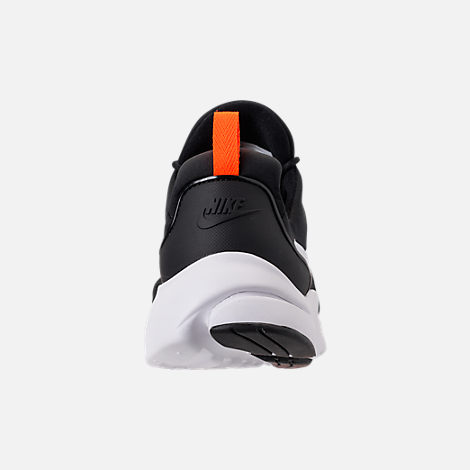 Back view of Men's Nike Presto Fly JDI Casual Shoes in Black/White/Total Orange