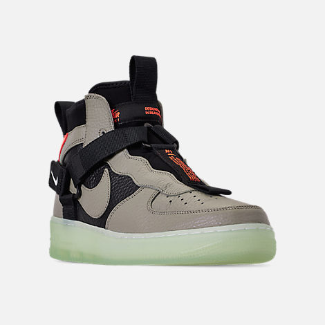 Three Quarter view of Men s Nike Air Force 1 Utility Mid Casual Shoes in  Spruce Fog fe4718ba1
