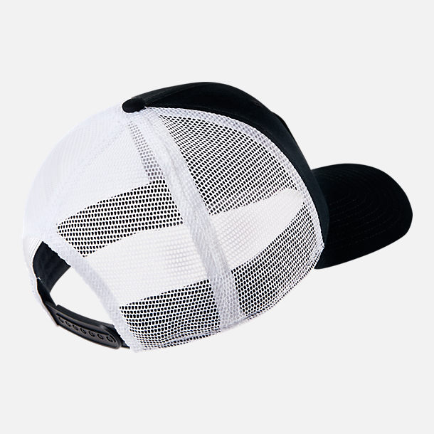 Back view of Unisex Nike Sportswear Classic99 Trucker Snapback Hat in Black/White