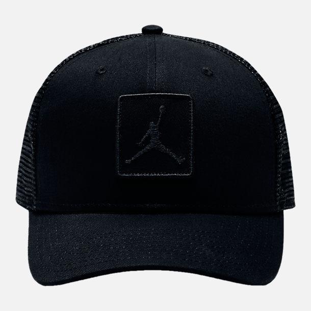 bb0415cd99fc ... denmark back view of unisex jordan classic 99 jumpman trucker snapback  hat in black ef39a 7781e
