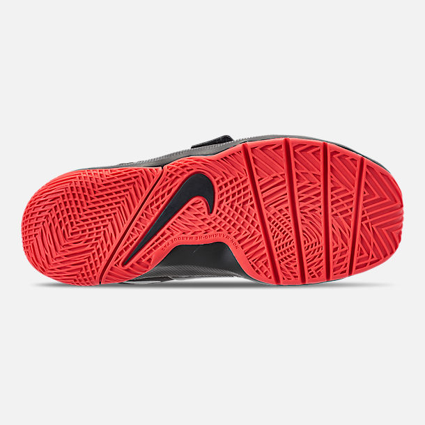 6dbd54342c6c3 Bottom view of Boys' Little Kids' Nike Team Hustle D8 Basketball Shoes