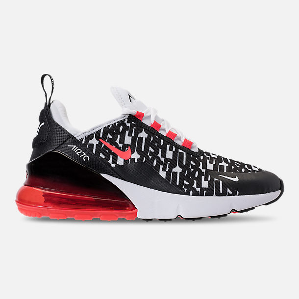 Right view of Big Kids  Nike Air Max 270 Print Casual Shoes in Black  99049ccc1