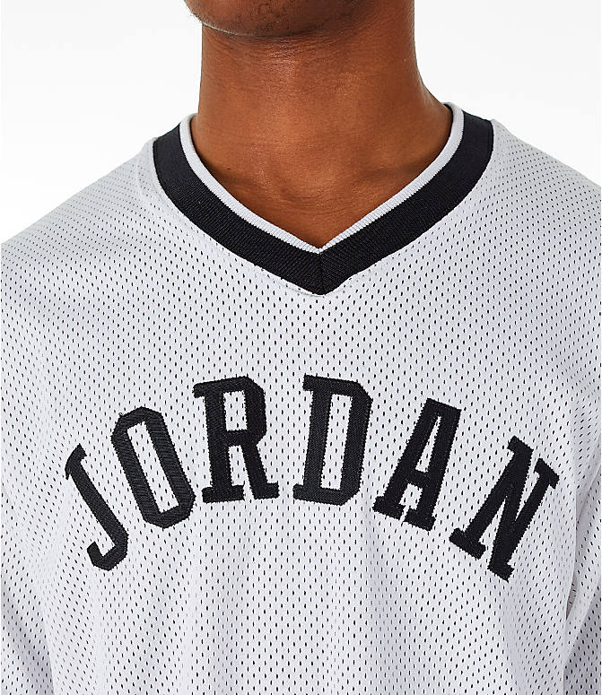 Detail 1 view of Men's Jordan Sportswear Jumpman Mesh T-Shirt in White/Black