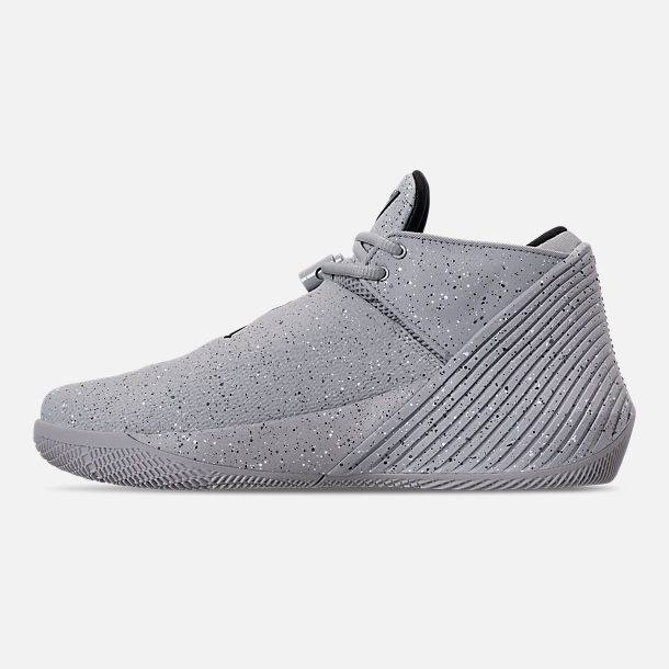 Left view of Men's Air Jordan Why Not Zer0.1 Low Basketball Shoes in Light Smoke Grey/Black/Iron Grey