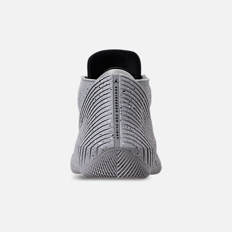 Back view of Men's Air Jordan Why Not Zer0.1 Low Basketball Shoes in Light Smoke Grey/Black/Iron Grey