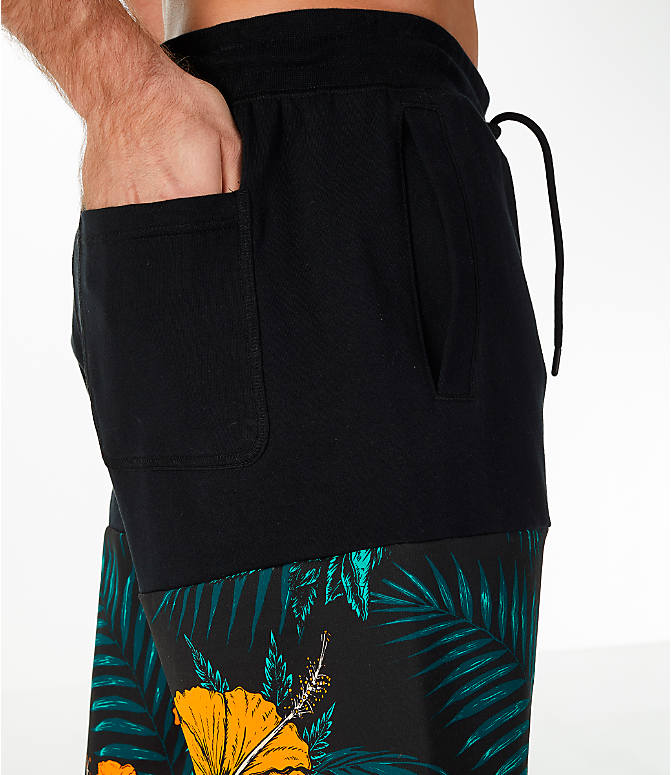 Detail 2 view of Men's Nike Sportswear Vice Futura Shorts in Black/Floral