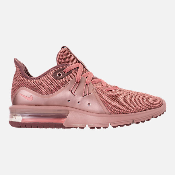 Right view of Women's Nike Air Max Sequent 3 Premium AS Running Shoes in Rust Pink/Pink Tint/Smokey Mauve