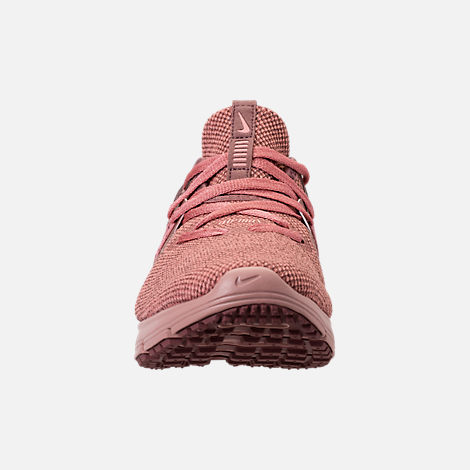 Front view of Women's Nike Air Max Sequent 3 Premium AS Running Shoes in Rust Pink/Pink Tint/Smokey Mauve