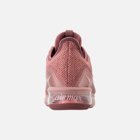 Back view of Women's Nike Air Max Sequent 3 Premium AS Running Shoes in Rust Pink/Pink Tint/Smokey Mauve