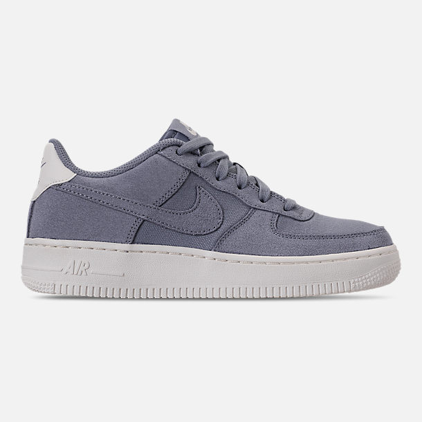 Right view of Boys' Big Kids' Nike Air Force 1 Suede Casual Shoes in Ashen Slate/Ashen Slate/Sail