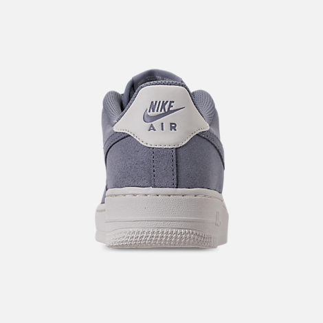 Back view of Boys' Big Kids' Nike Air Force 1 Suede Casual Shoes in Ashen Slate/Ashen Slate/Sail