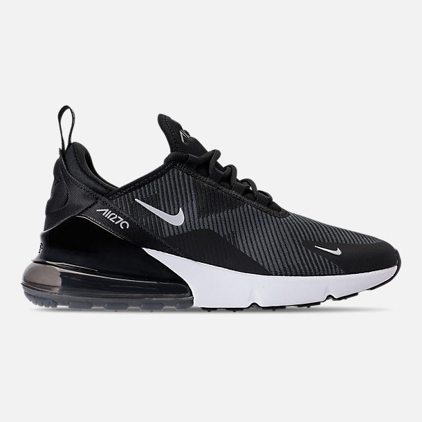 Right view of Boys' Big Kids' Nike Air Max 270 KJCRD Casual Shoes in Black/Wolf Grey/Dark Grey/White