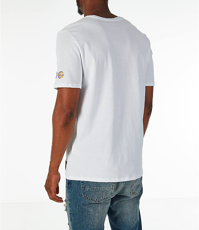 Back Left view of Men's Nike Sportswear NYC Wildcard T-Shirt in White