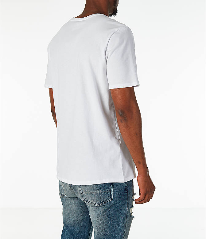 Back Right view of Men's Nike Sportswear NYC Wildcard T-Shirt in White