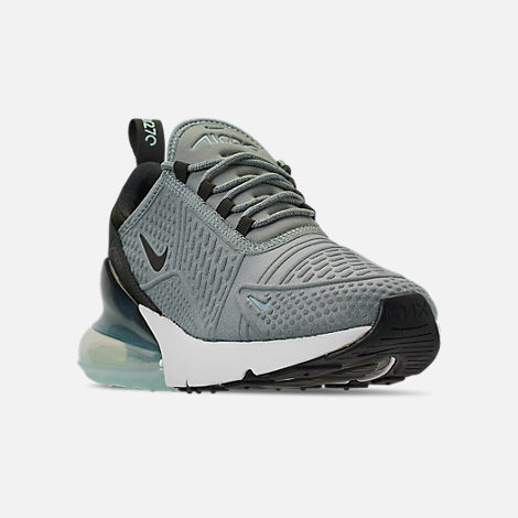 Three Quarter view of Women s Nike Air Max 270 SE Casual Shoes in Mica  Green  cb0a1e279