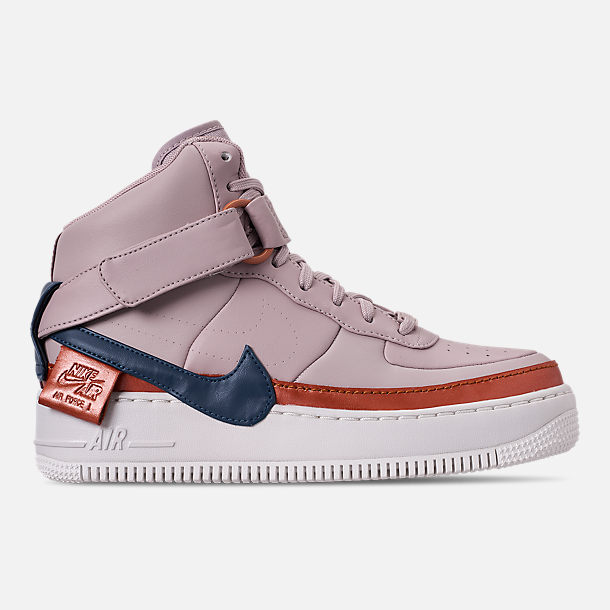 Right view of Women's Nike AF1 Jester High XX Casual Shoes in Violet Ash/Blue Force/Night Maroon