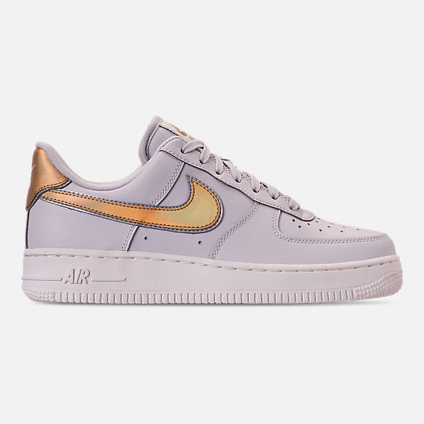 Right view of Women's Nike Air Force 1 '07 Metallic Casual Shoes in Vast Grey/Metallic Gold/Summit White