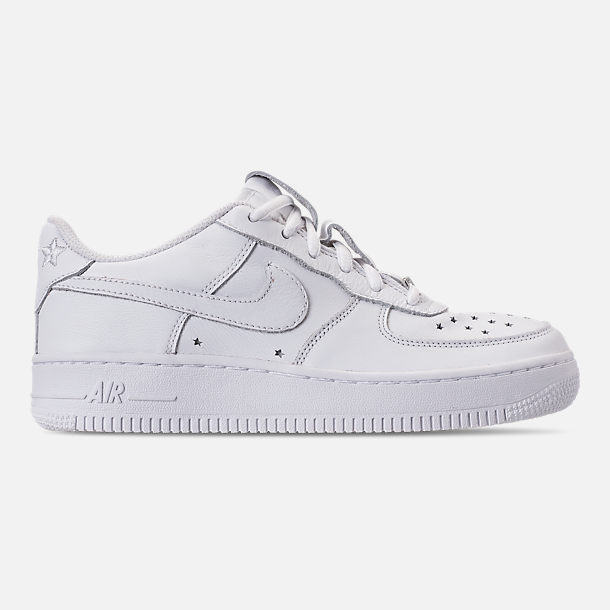 Right view of Boys' Big Kids' Nike Air Force 1 QS Casual Shoes