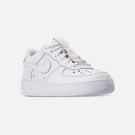 Three Quarter view of Boys' Big Kids' Nike Air Force 1 QS Casual Shoes