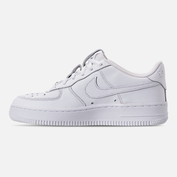 Left view of Boys' Big Kids' Nike Air Force 1 QS Casual Shoes