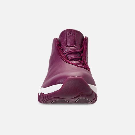 wholesale dealer 56491 f520e ... purple 559a4 416f8 sweden front view of womens air jordan future casual  shoes in bordeaux bordeaux phantom fae5d 48128 ...