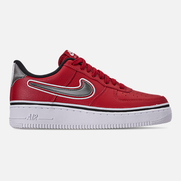 Right view of Boys' Big Kids' Nike Air Force 1 '07 LV8 Sport Casual Shoes in Varsity Red/Black/White