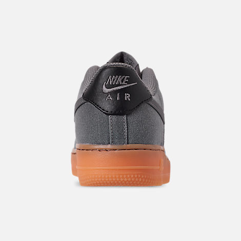 Back view of Boys' Big Kids' Nike Air Force 1 '07 LV8 Style Casual Shoes in Black/Black/Gum Medium Brown