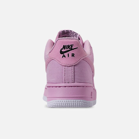 Back view of Girls' Big Kids' Nike Air Force 1 '07 LV8 Style Casual Shoes in Light Arctic Pink/Light Arctic Pink/Black