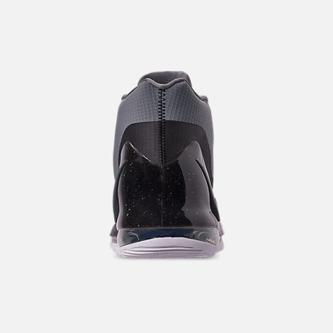 Back view of Men's Nike Air Force Max Basketball Shoes in Cool Grey/Cool Grey/Black/White