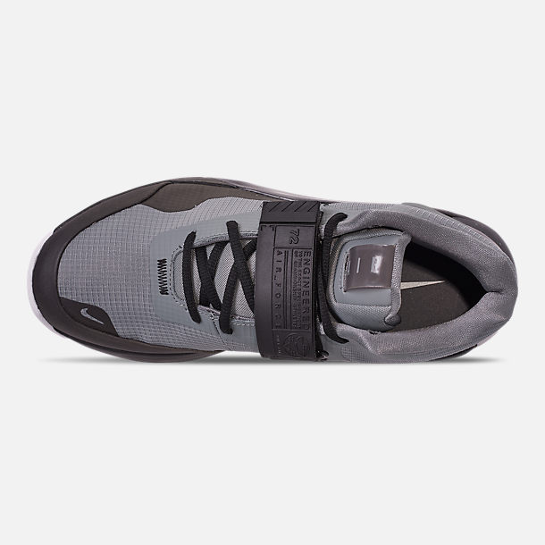 Top view of Men's Nike Air Force Max Basketball Shoes in Cool Grey/Cool Grey/Black/White