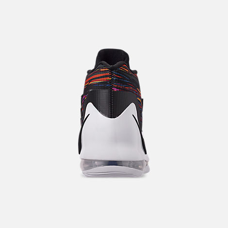 Back view of Men's Nike Air Force Max Basketball Shoes in White/Black/Multi-Color