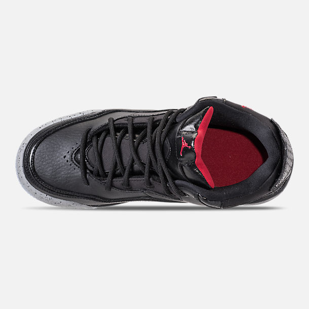 Top view of Boys' Big Kids' Air Jordan Courtside 23 Basketball Shoes in Black/Gym Red/Particle Grey