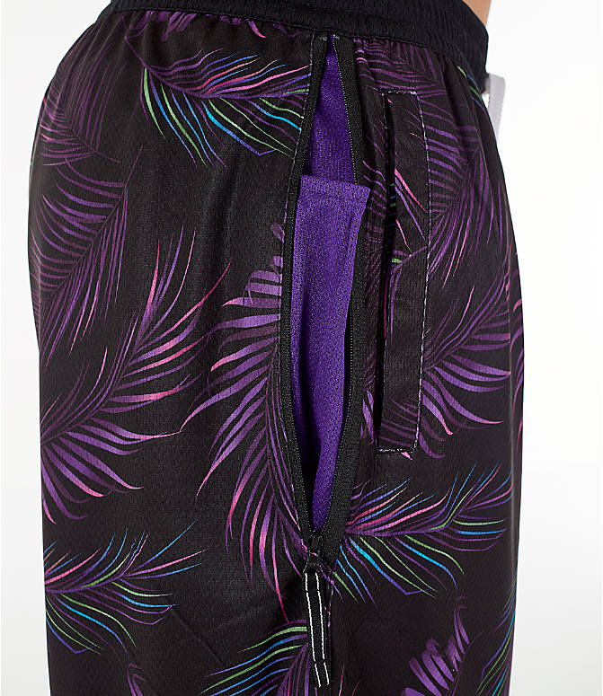 778c5855d20354 Detail 2 view of Men s Nike Dri-FIT DNA Floral Basketball Shorts in Court  Purple