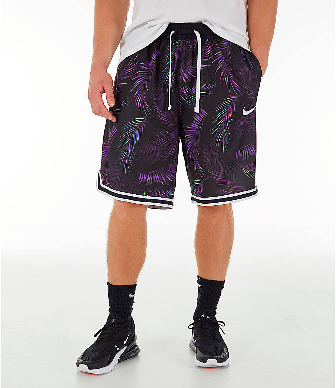 a09b54f5558f72 Front view of Men s Nike Dri-FIT DNA Floral Basketball Shorts in Court  Purple