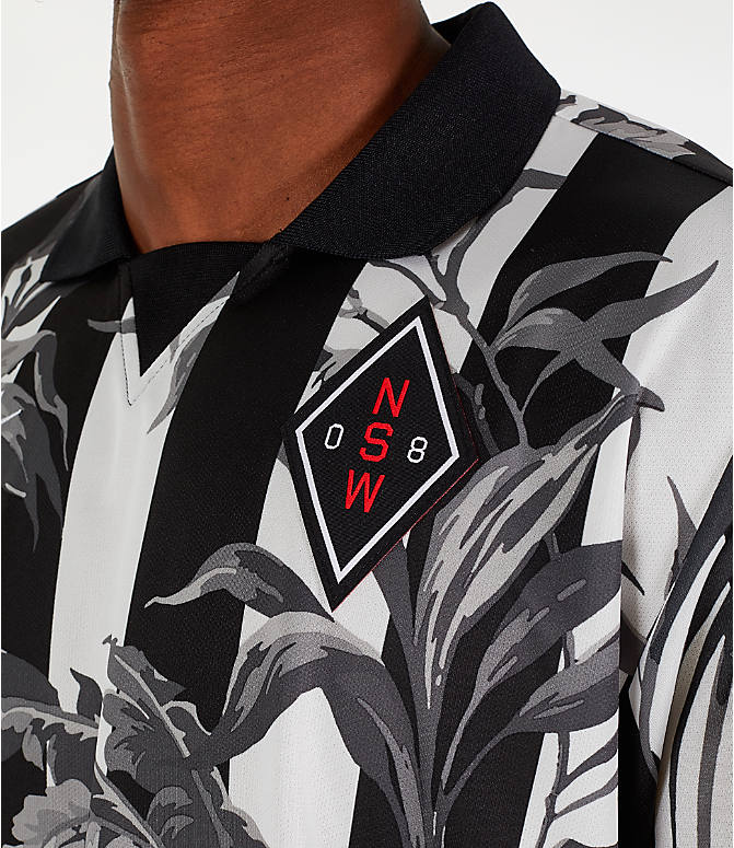 Detail 1 view of Men's Nike Sportswear Floral Soccer T-Shirt in Black/White