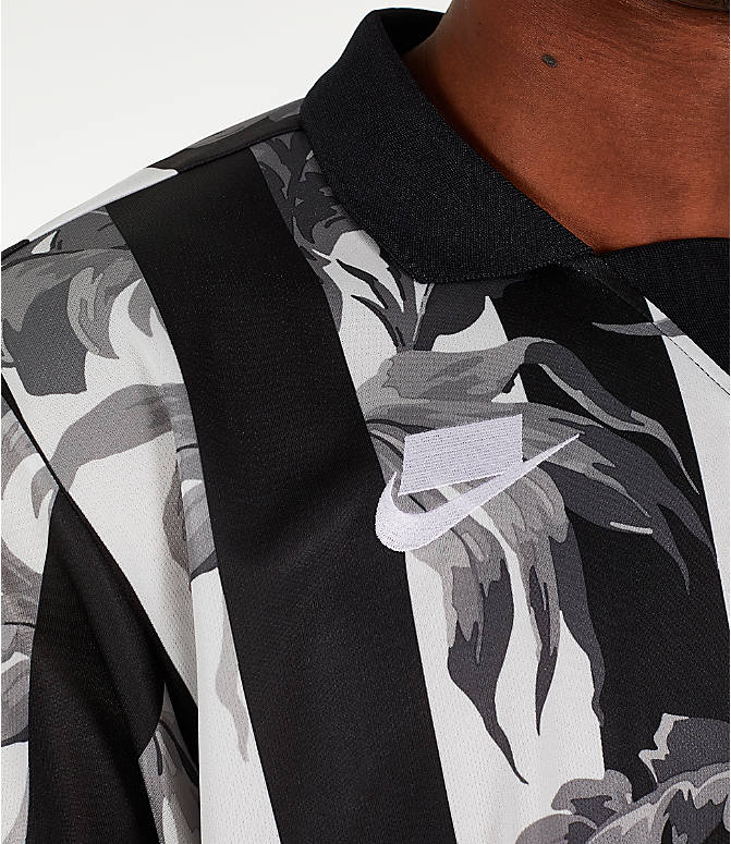 Detail 2 view of Men's Nike Sportswear Floral Soccer T-Shirt in Black/White