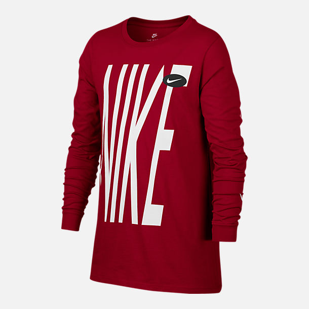 Front view of Boys' Nike HBR Long-Sleeve T-Shirt