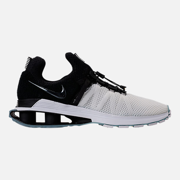 Right view of Men's Nike Shox Gravity Casual Shoes in White/Black/White